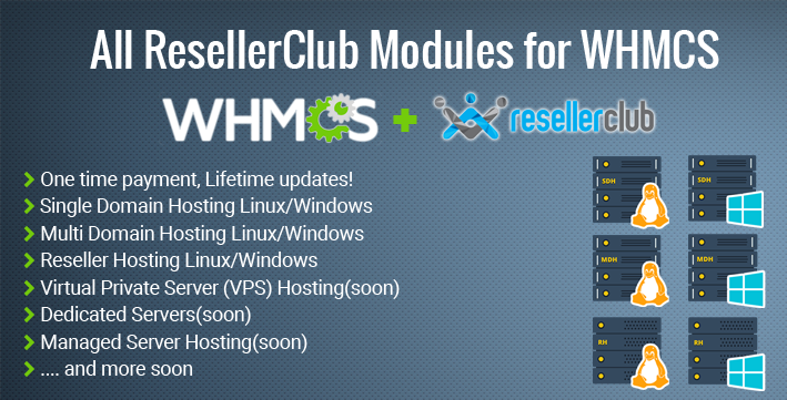 All ResellerClub Product Modules for WHMCS - Mighty Scripts