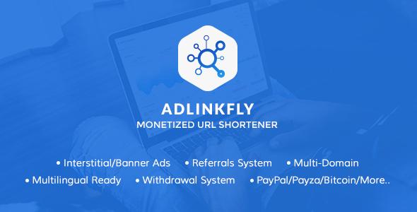 AdLinkFly adfly ouo.io linkshrink shorte.st clone